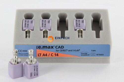 Bild von IVOCLAR IPS E-MAX CAD FOR CEREC AND INLAB LT A4/C14 (5st)