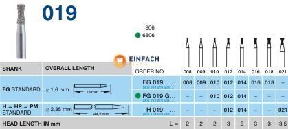 Picture of HORICO FG DIAMANT-BOHRER 019/010 (5 Stück)